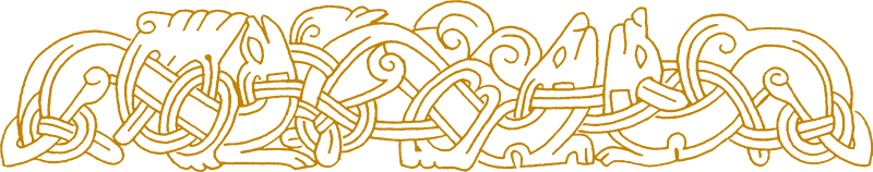 Norse knotwork of animals