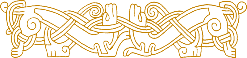 Norse knotwork of dogs