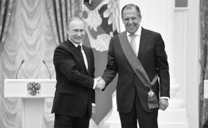 Ryssland President Vladimir Putin och Utrikesminister Sergej Lavrov (Foto: www.kremlin.ru / Wiki Commons)