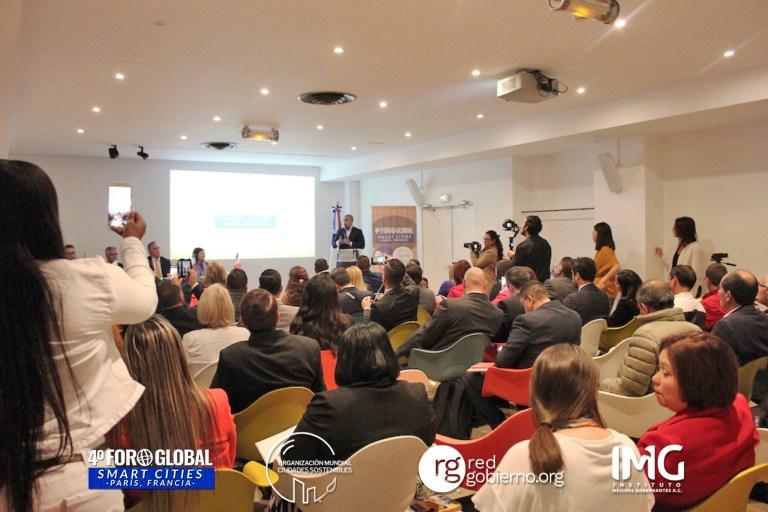 4º Foro Global Smart Cities en París, Francia - Instituto Mejores Gobernantes, Organización Mundial Ciudades Sostenibles, Red Gobierno