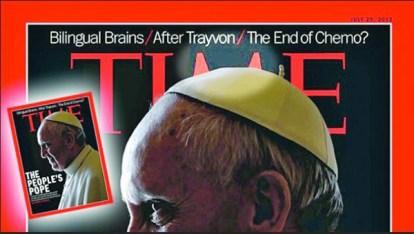 Primera portada de Sinagoglio con sus cuernitos en Time.