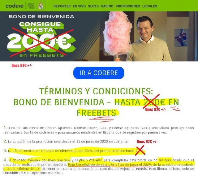 bono bienvenida codere codereapuestas 1 foronaranja