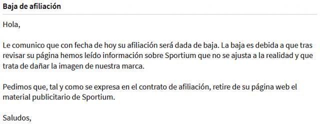 sportium affiliates mail baja usuario foronaranja