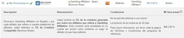 gambling-affiliation plan referidos cpa revehueshare foronaranja