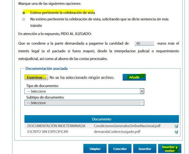 juicio verbal denuncia demanda sede judicial electronica gratis 2000 casa apuesta 11 foronaranja