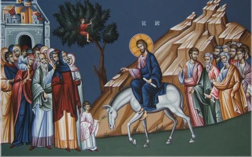 entrada de jesus a jerusalen fondo