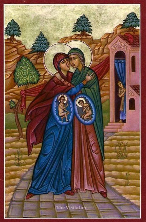visitacion de maria icono