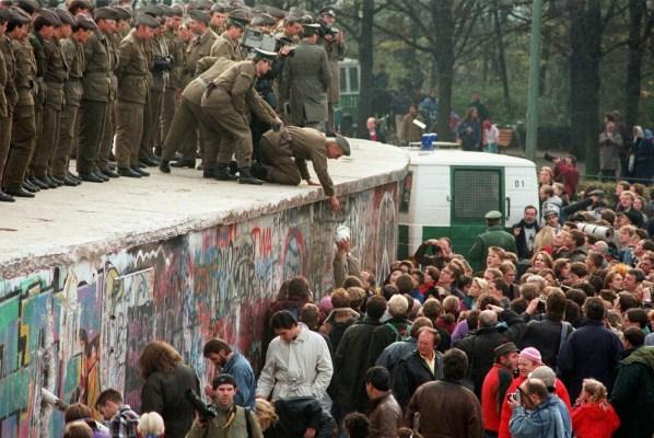 9 de noviembre de 1989, aída del Muro de Berlín