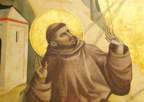 san francisco recibiendo los estigmas giotto