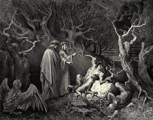 dibujo de exorcismo arboles