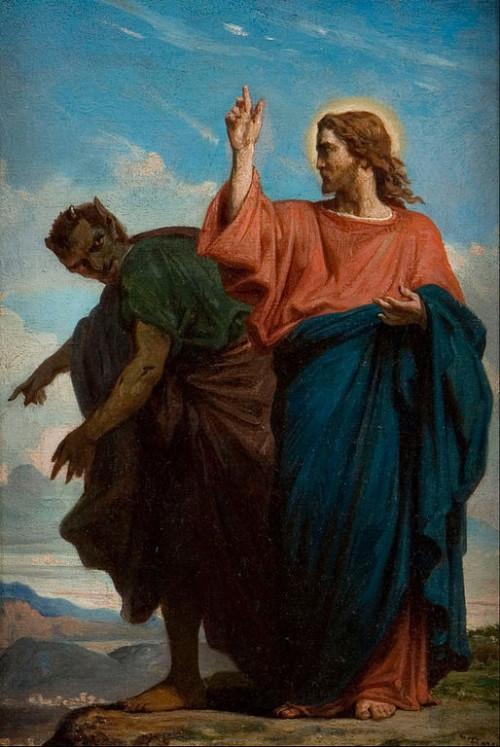 demonio tienta a jesus