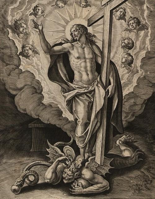jesus pisa al demonio