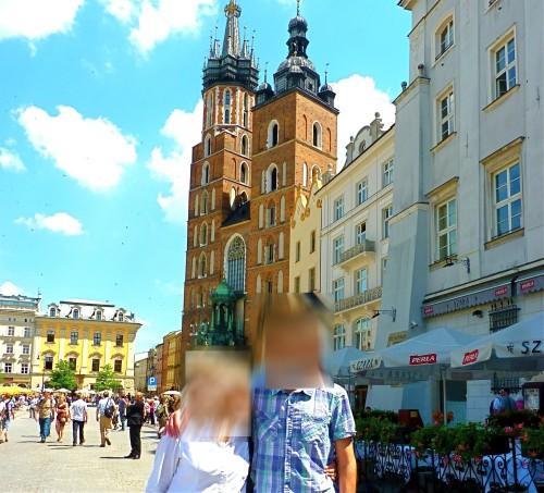 Con mi hijo en Polonia mayo 2013