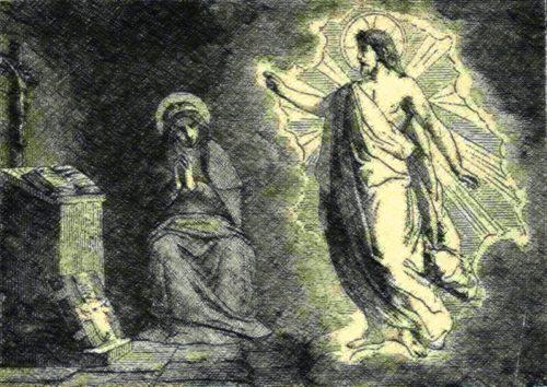 Santa brígida y jesús