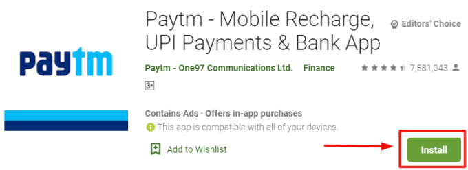 Paytm for PC and Windows