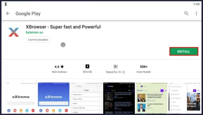 XBrowser for PC