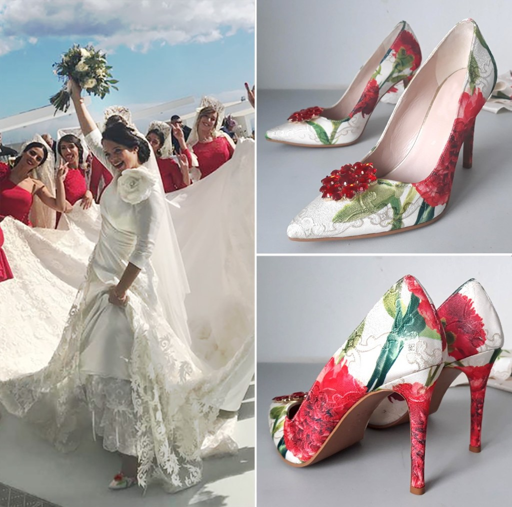 Clientas con sus zapatos forrados