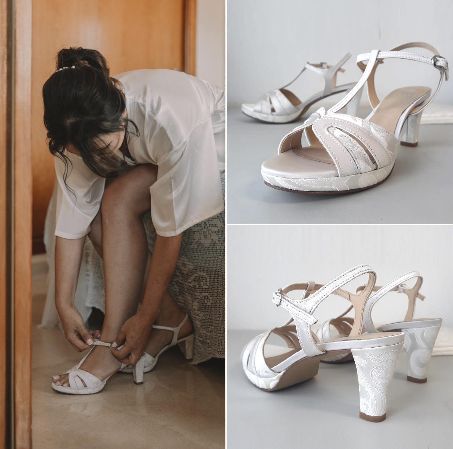 forrado sandalia novia