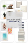 Modern Boho Spring Decor