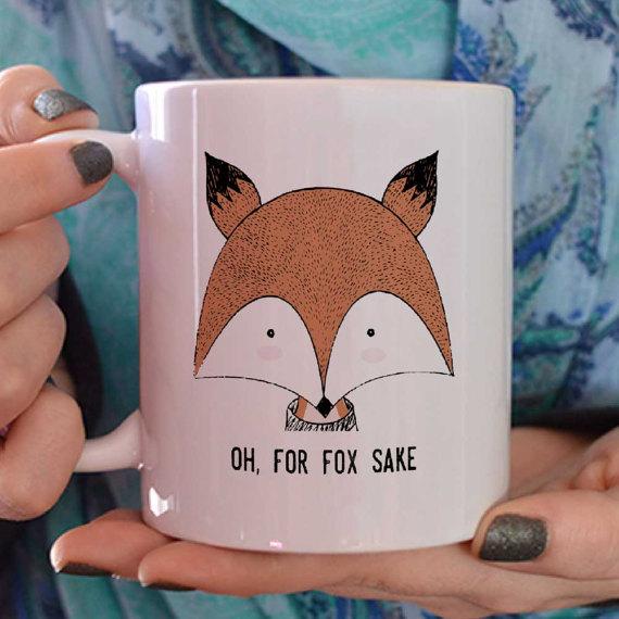 fall fox mug