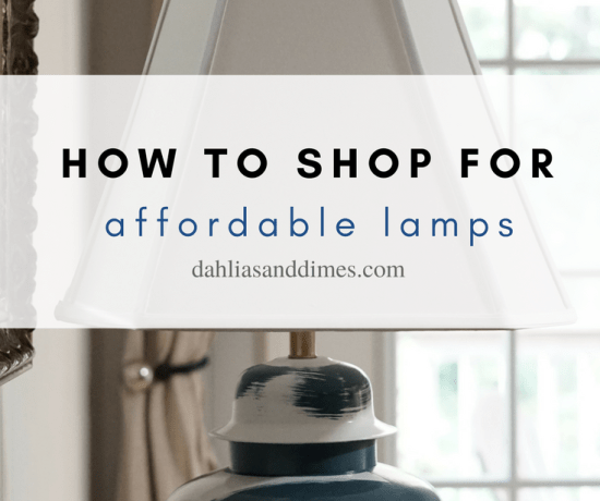how to find affordable lamps