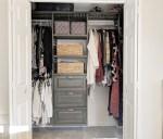 Modern Modular Closet System | Master Closet Makeover