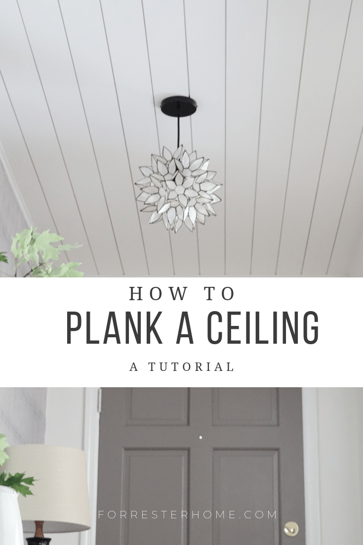 planked ceiling diy