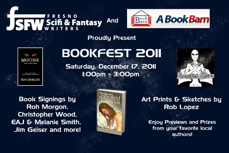 Fresno Sci-Fi & Fantasy Writers and Clovis Book Barn to Launch First Annual BookFest