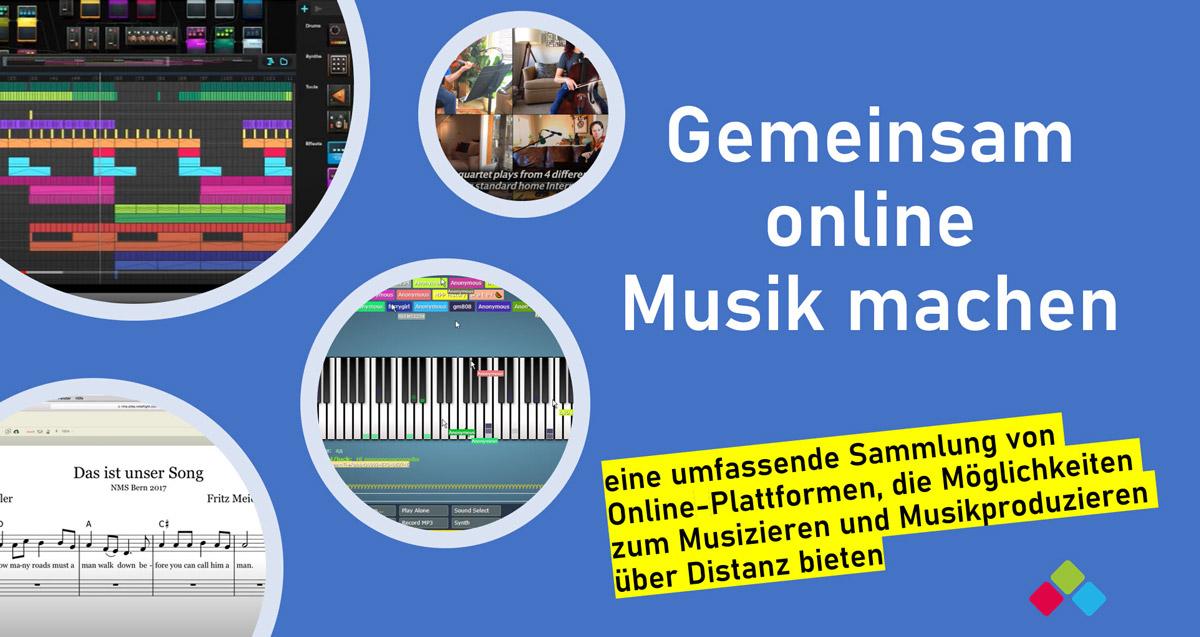 Gemeinsam online Musizieren – Online-Musikplattformen zum Musizieren und zur kollaborativen Musikproduktion über Distanz