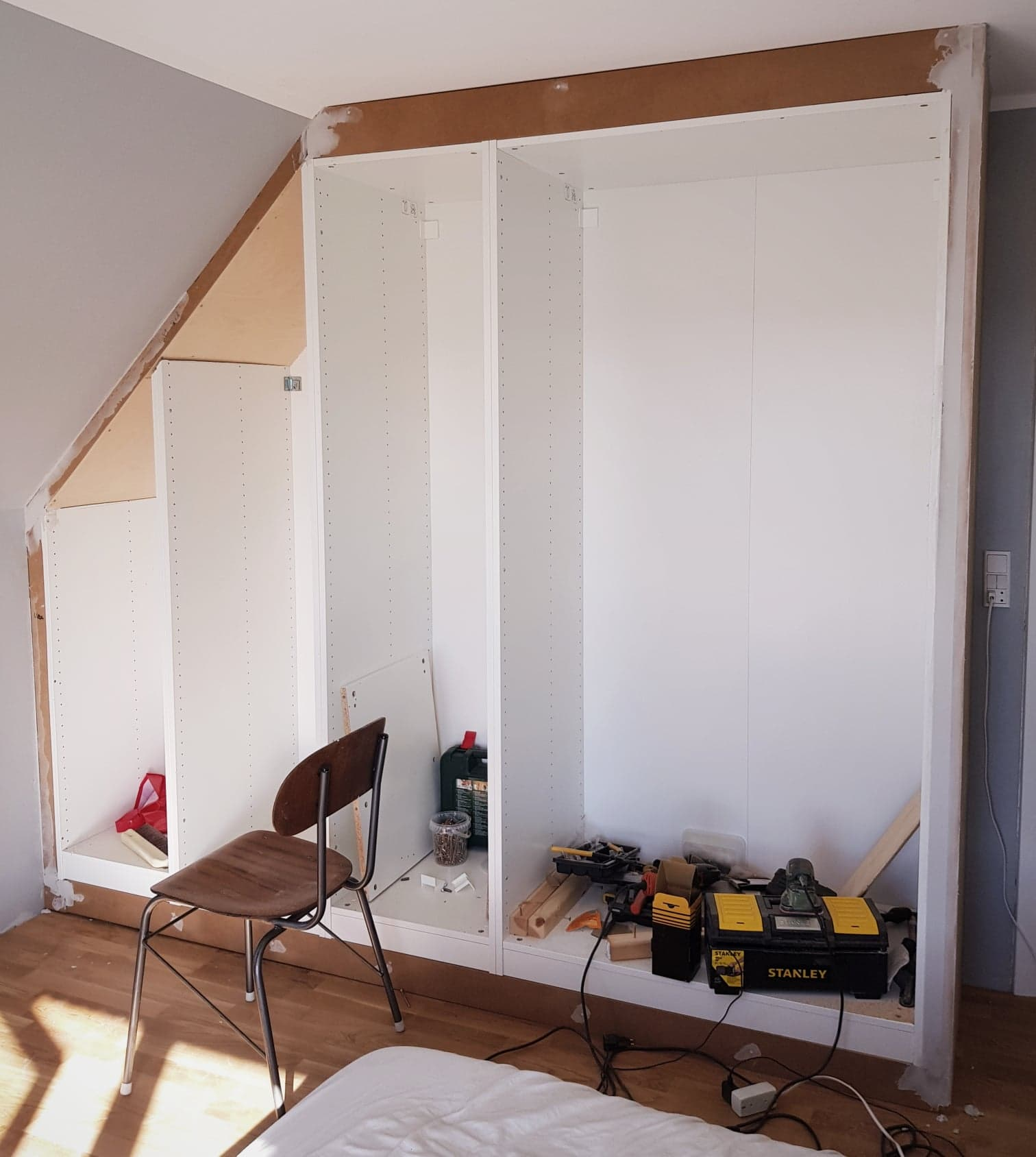 Diy Ikea Hack Til Indbygget Skab Forstadsdromme Dk