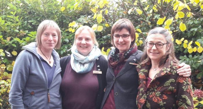 Kathi Lohmann, Sibylle Michels, Christiane Lorenz-Laubner, Dr. Birgit Homann (von li nach rechts)