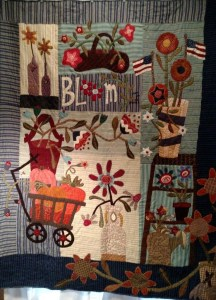 "Viewer's Choice Ribbon -- voted by attendees at the quilt show: ""Sweet Land of Liberty"" by Adele Aiken"