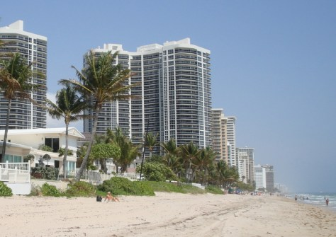 Fort Lauderdale Luxury Condos as seen from the Galt Ocean Mile Beach