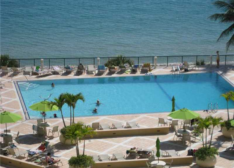 Pool and Ocean at Plaza South - here on Galt Ocean Mile