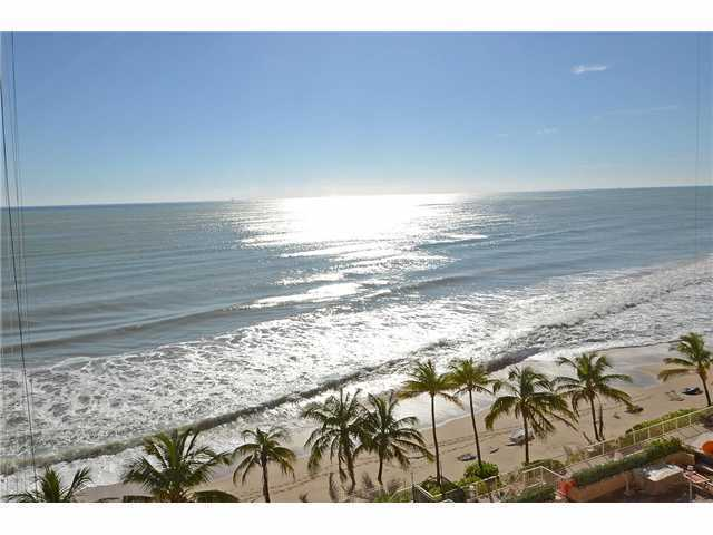 View of the ocean from a condo that recently sold here on Galt Ocean Mile