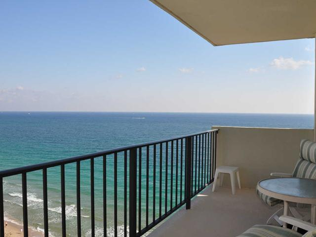 Look at the ocean views from the terrace of this condo