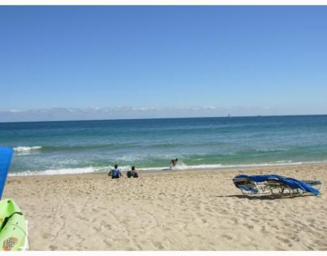 View of beach from Royal Ambassador condominium