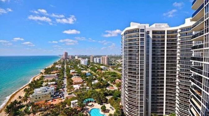 View of luxury L'Hermitage Fort Laudedale condos for sale