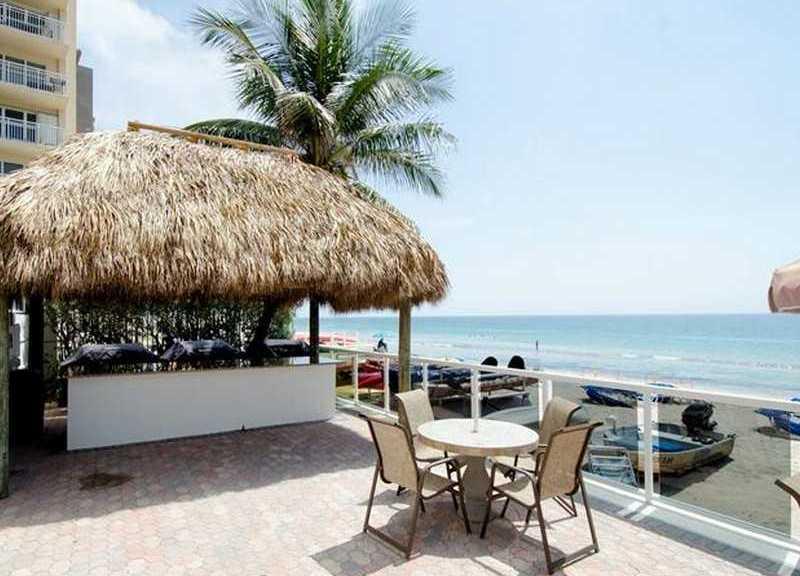 View of the bar and sun deck at Royal Ambassador