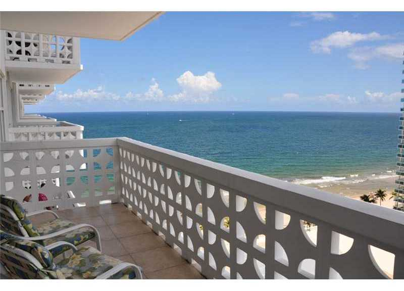 View of the beach from Ocean Summit here on Galt Ocean Mile Ft Lauderdale
