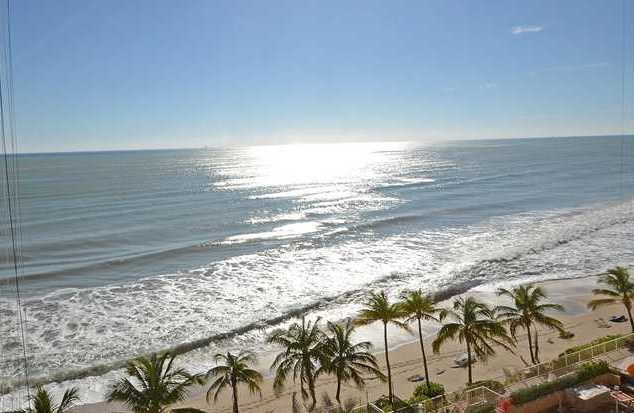 View of the ocean from a condo for sale in Southpoint Fort Lauderdale