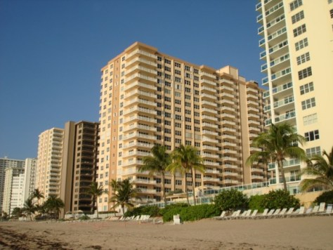 View of Regency Tower and Regency Tower South along side Galt Ocean Mile condominiums