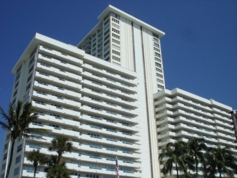 View of Playa del Mar condominium here in Fort Lauderdale