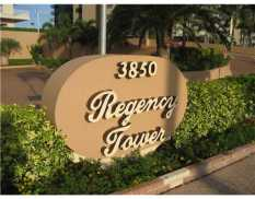 Entrance signage at Regency Tower