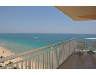 Ocean views from a condo here in Regency Tower Fort Lauderdale