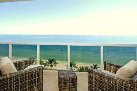 Views from a luxury oceanfront condo for sale here in L'Hermitage in Fort Lauderdale Florida