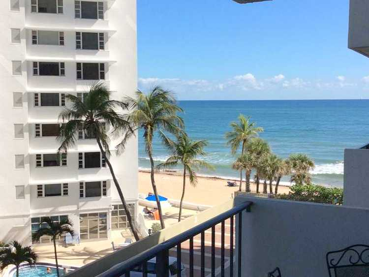 Views from a Fort Lauderdale condo for sale here in Ocean Riviera