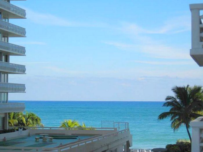 View from a direct oceanfront Fort Lauderdale condo for sale here in Ocean Summit