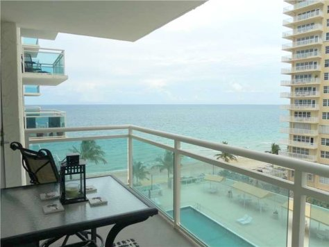 Ocean views from a condo for sale here in Playa del Mar Fort Lauderdale