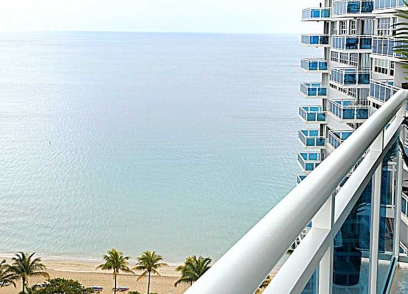 Ocean views from a Fort Lauderdale condo for sale here in The Commodore